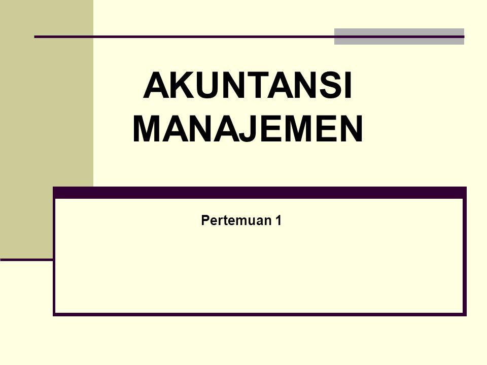 Responsibility Accounting Sesuai dengan struktur pengendalian manajemen, pusat pertanggungjawaban dalam organisasi digolongkan menjadi : pusat biaya, pusat pendapatan, pusat laba, dan pusat investasi.