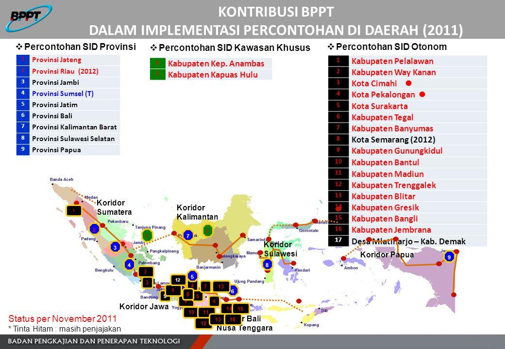 1 Kabupaten Pelalawan 2 Kabupaten Way Kanan 3 Kota Cimahi 4 Kota Pekalongan 5 Kota Surakarta 6 Kabupaten Tegal 7 Kabupaten Banyumas 8 Kota Semarang (2