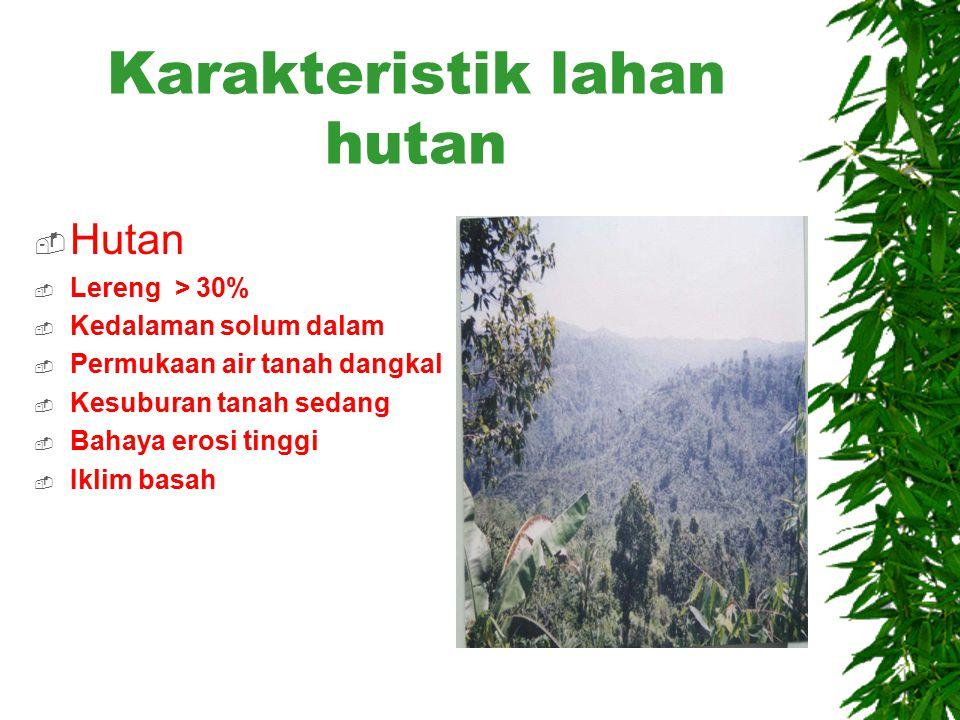Karakteristik SPL  SPL 1 SPL 3  Jenis tanah : Entisol Jenis tanah : Inceptisol  Topografi : datar Topografi : berbukit  Hidrologi : air payau Hidr
