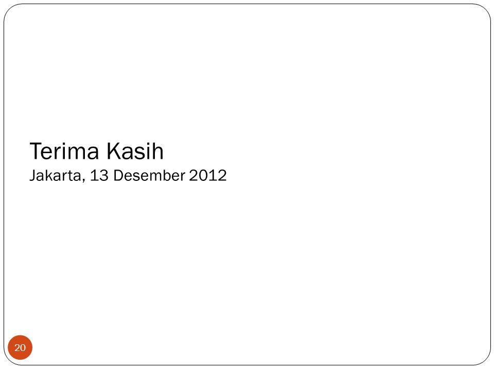 Terima Kasih Jakarta, 13 Desember 2012 20