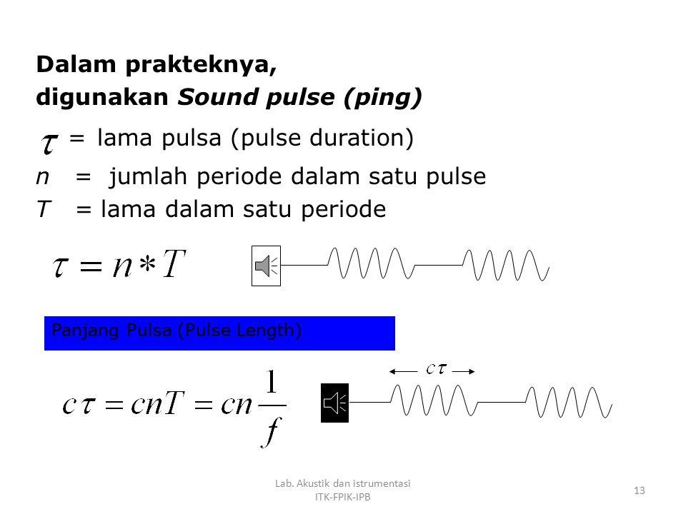 Intensitas adalah jumlah energi per detik (power) yang lewat melalui satuan luas tertentu tegak lurus terhadap arah pemancaran/perambatan gelombang su