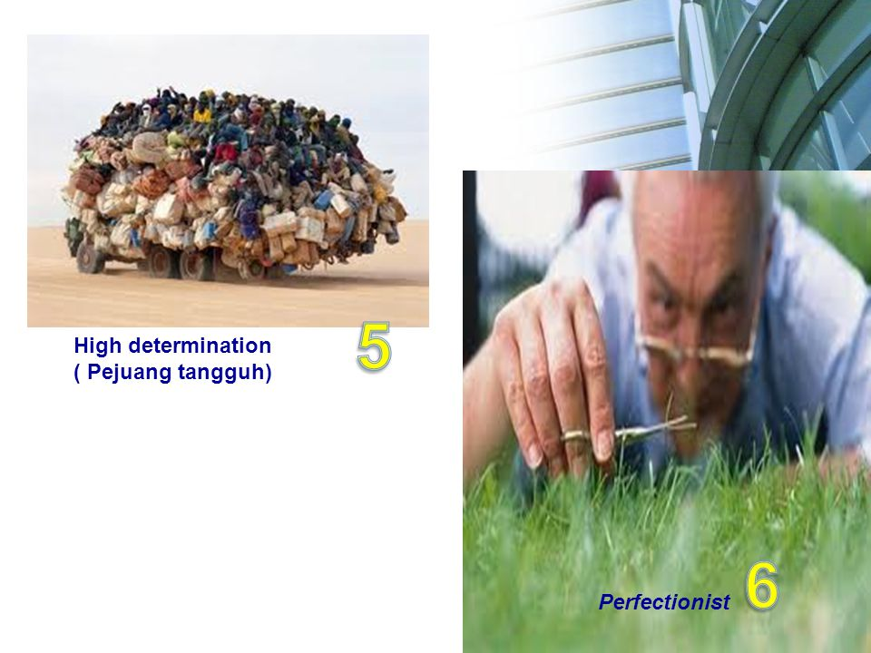 Perfectionist High determination ( Pejuang tangguh)