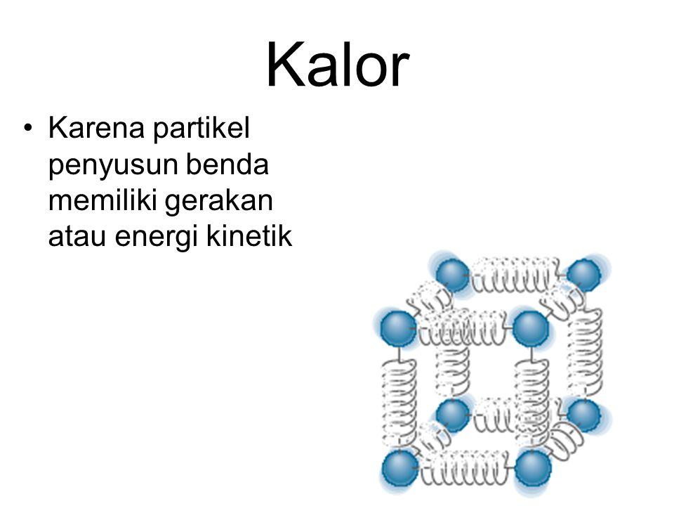Kalor Karena partikel penyusun benda memiliki gerakan atau energi kinetik 7