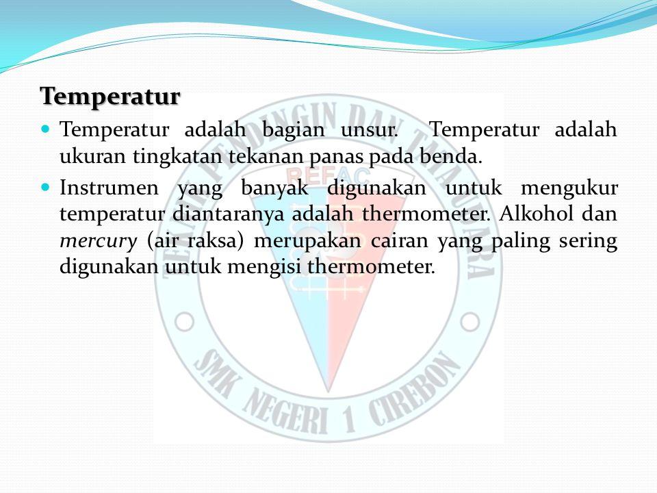 Temperatur Temperatur adalah bagian unsur.