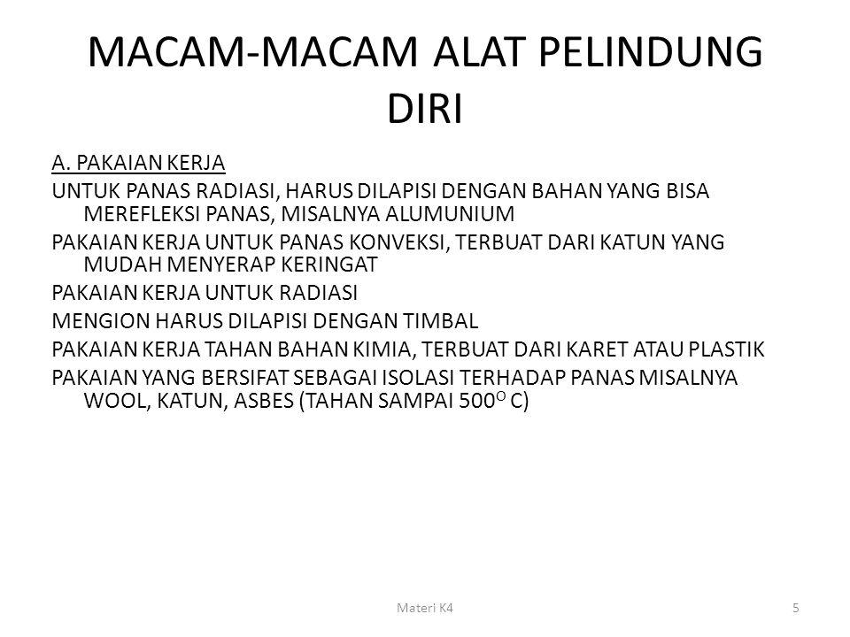 MACAM-MACAM ALAT PELINDUNG DIRI A.