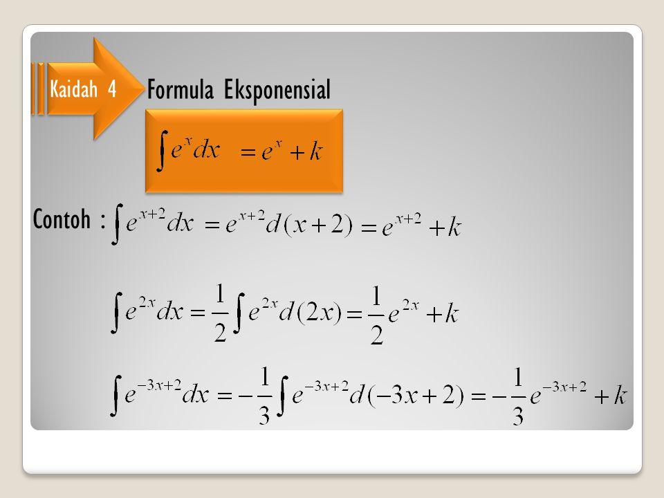 Kaidah 4 Formula Eksponensial Contoh :