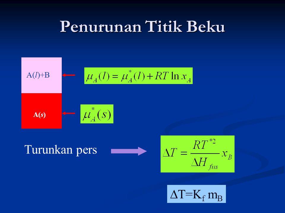 KELARUTAN A(s) A(l)+ solut B Buktikan !