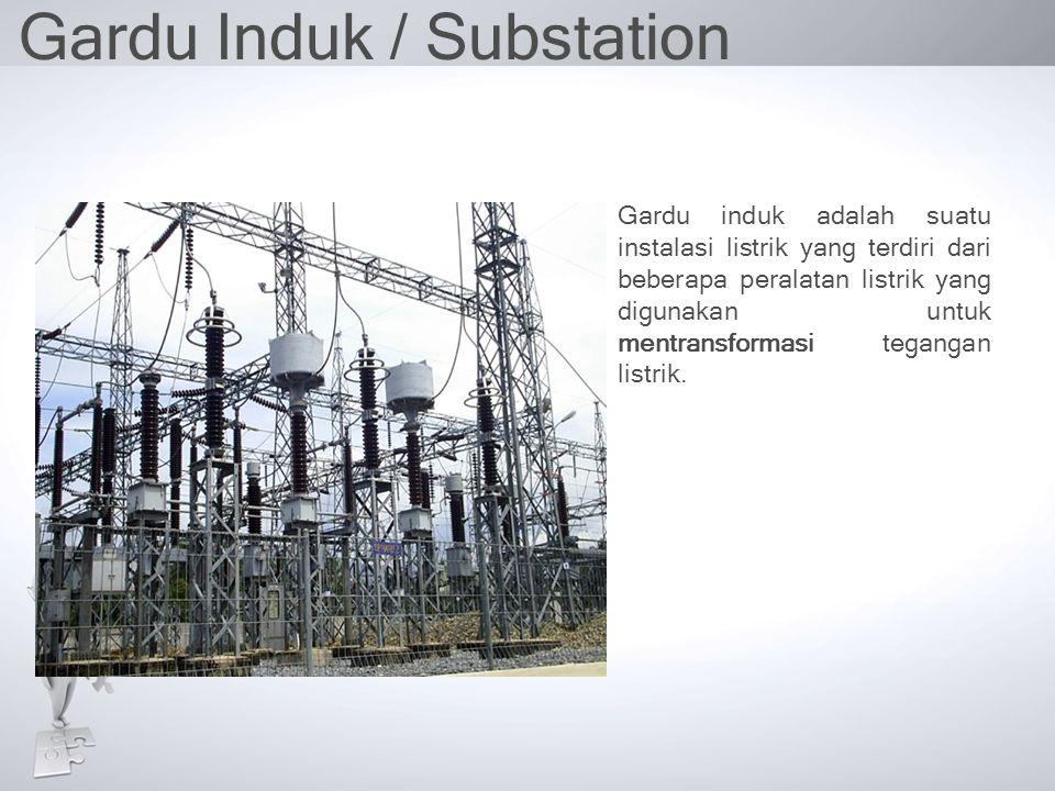 Gardu Induk / Substation Gardu induk adalah suatu instalasi listrik yang terdiri dari beberapa peralatan listrik yang digunakan untuk mentransformasi