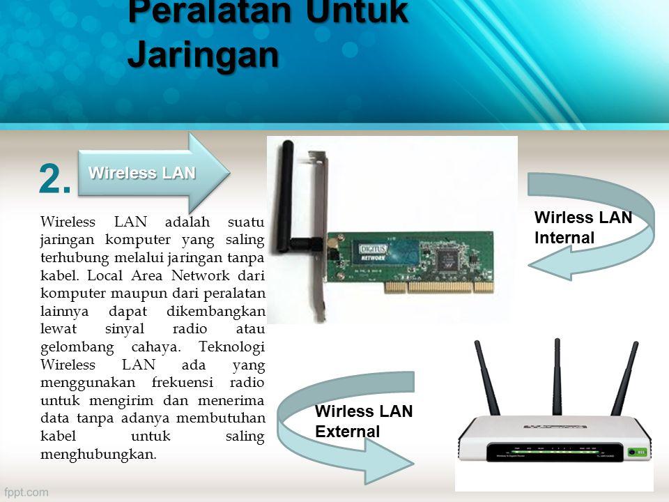 2. Wireless LAN adalah suatu jaringan komputer yang saling terhubung melalui jaringan tanpa kabel.