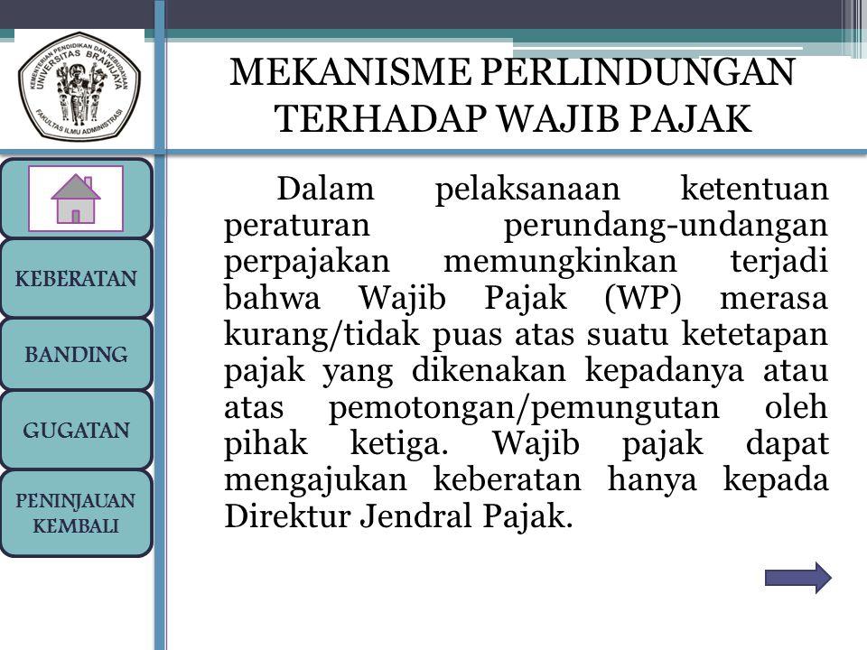 Dalam pelaksanaan ketentuan peraturan perundang-undangan perpajakan memungkinkan terjadi bahwa Wajib Pajak (WP) merasa kurang/tidak puas atas suatu ke