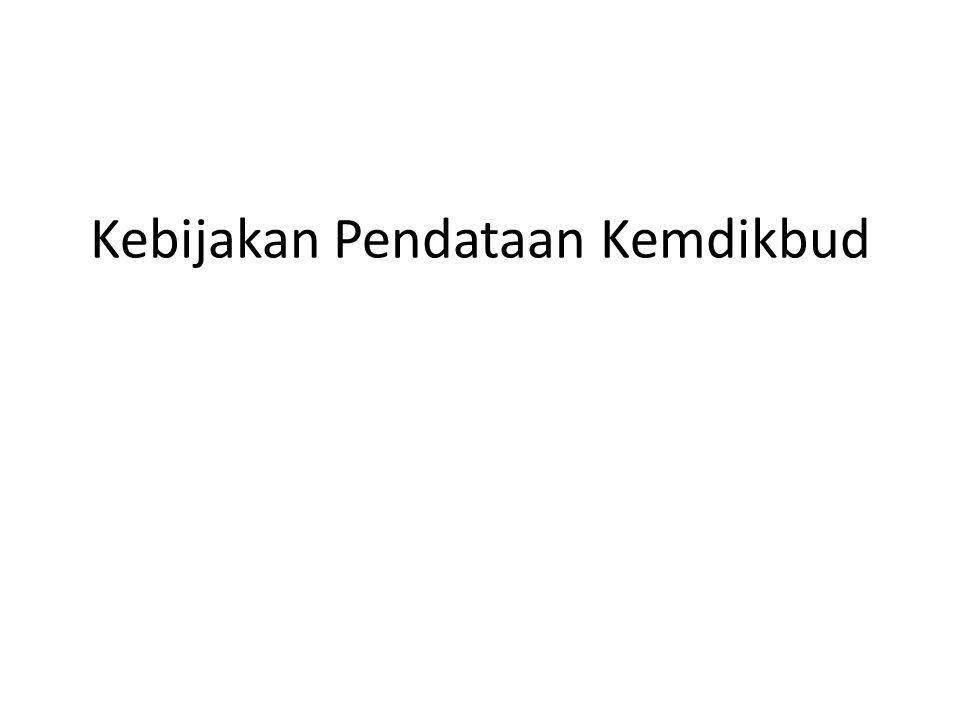 NISN PDSP Data Referensi (Kode Agama, Kode Mapel,...) PDSP Peserta Didik Data Sekolah Data Pribadi DitJen Satuan Pendidikan Pembelajaran Data Keluarga DitJen Data Riwayat Pendidikan DitJen Data Rapor/Transkrip Data Prestasi (Non Nilai/Mapel) Data Ujian Nasional Balitbang DitJen Balitbang Mendukung BSM Mendukung BOS Dikumpulkan tiap semester, melengkapi elemen data peserta didik ElemenKontributor
