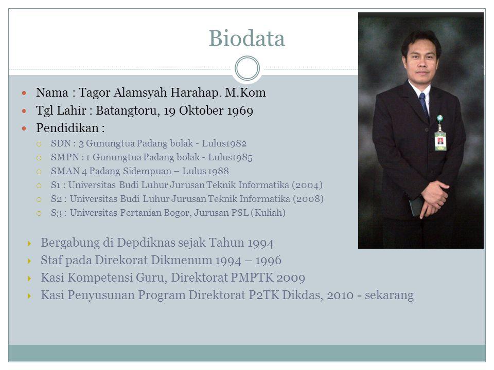 Biodata Nama : Tagor Alamsyah Harahap.