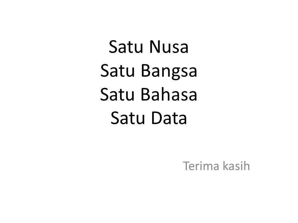 Satu Nusa Satu Bangsa Satu Bahasa Satu Data Terima kasih