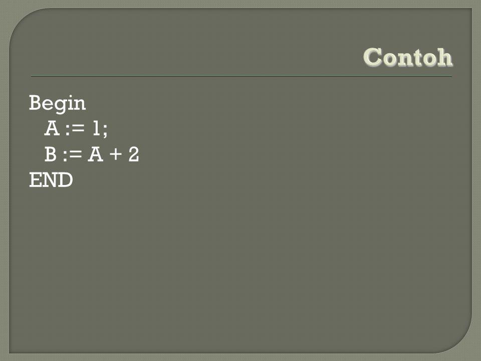 Begin A := 1; B := A + 2 END