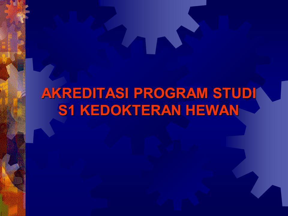1.Portfolio (alat penilaian tingkat institusi) 2.Borang Akreditasi (alat penilaian tingkat Program Studi) 3.Visitasi