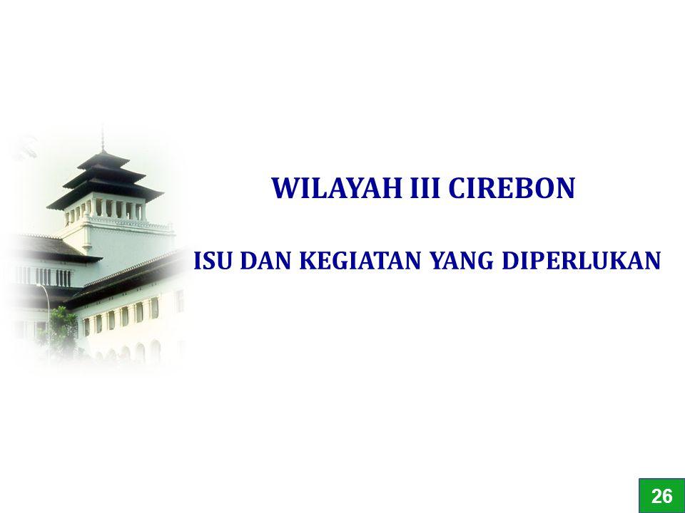 ISU DAN KEGIATAN YANG DIPERLUKAN WILAYAH III CIREBON 26