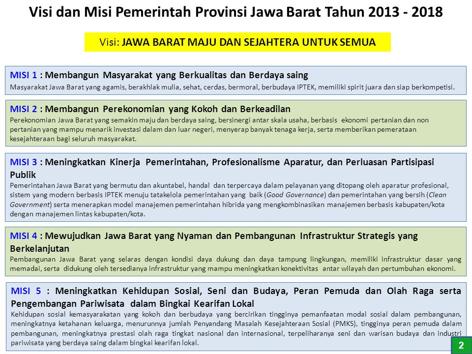 Common Goals RPJMD TAHUN 2013-2018 1313