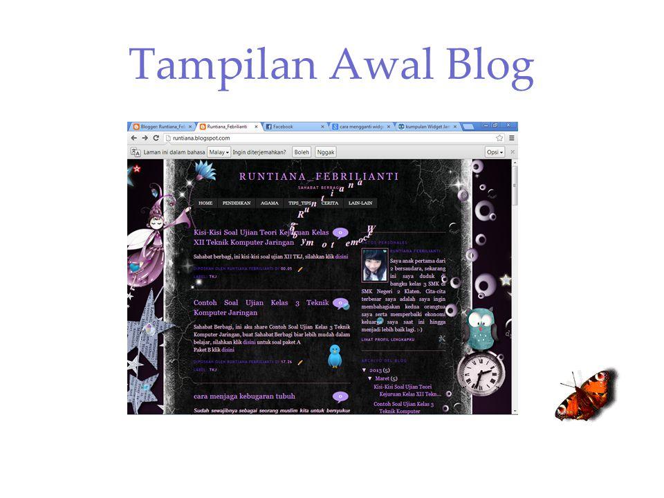 Tampilan Awal Blog