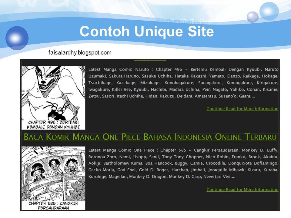 Contoh Unique Site faisalardhy.blogspot.com