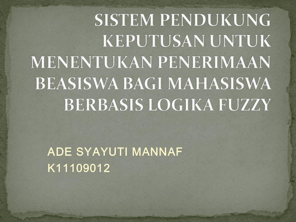 ADE SYAYUTI MANNAF K11109012