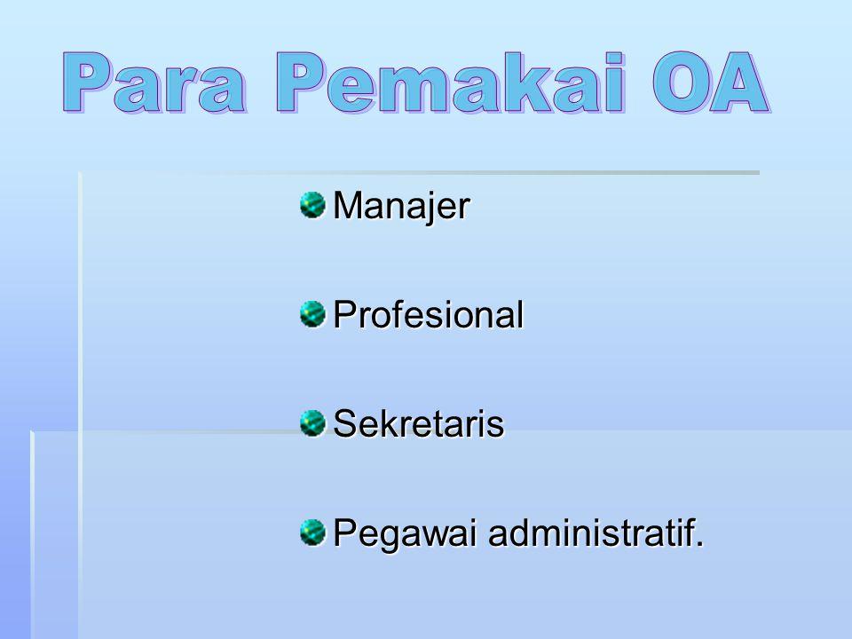 ManajerProfesionalSekretaris Pegawai administratif.