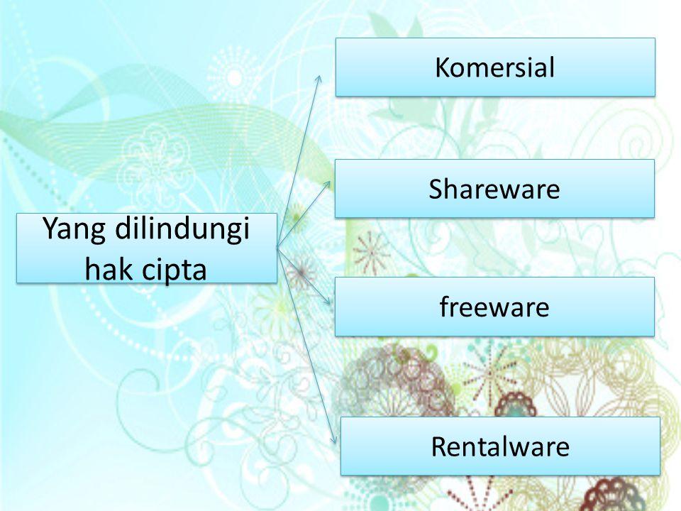 Yang dilindungi hak cipta Yang dilindungi hak cipta Komersial Komersial Shareware freeware Rentalware