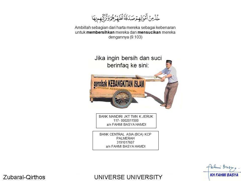 BANK CENTRAL ASIA (BCA) KCP PALMERAH 3191017607 a/n FAHMI BASYA HAMDI BANK MANDIRI JKT TMN K.JERUK 117- 0002011500 a/n FAHMI BASYA HAMDI Jika ingin be