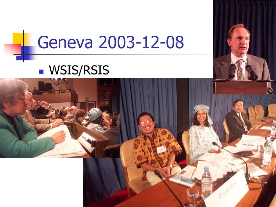 Geneva 2003-12-08 WSIS/RSIS