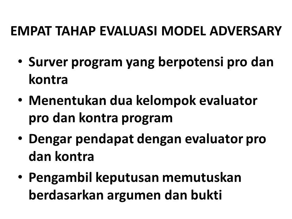 quiz Evaluator kontra program karena tidak menhyetujui adanya suatu program pendidikan tertentu Betul Salah