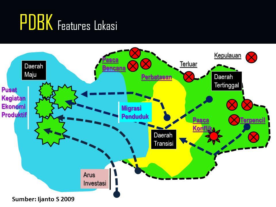 PDBK Features Lokasi Daerah Tertinggal Daerah Maju PusatKegiatanEkonomiProduktif MigrasiPenduduk Terpencil Terluar PascaKonflik Kepulauan PascaBencana