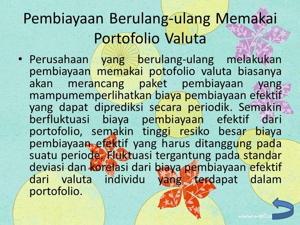 Pembiayaan Berulang-ulang Memakai Portofolio Valuta Perusahaan yang berulang-ulang melakukan pembiayaan memakai potofolio valuta biasanya akan meranca