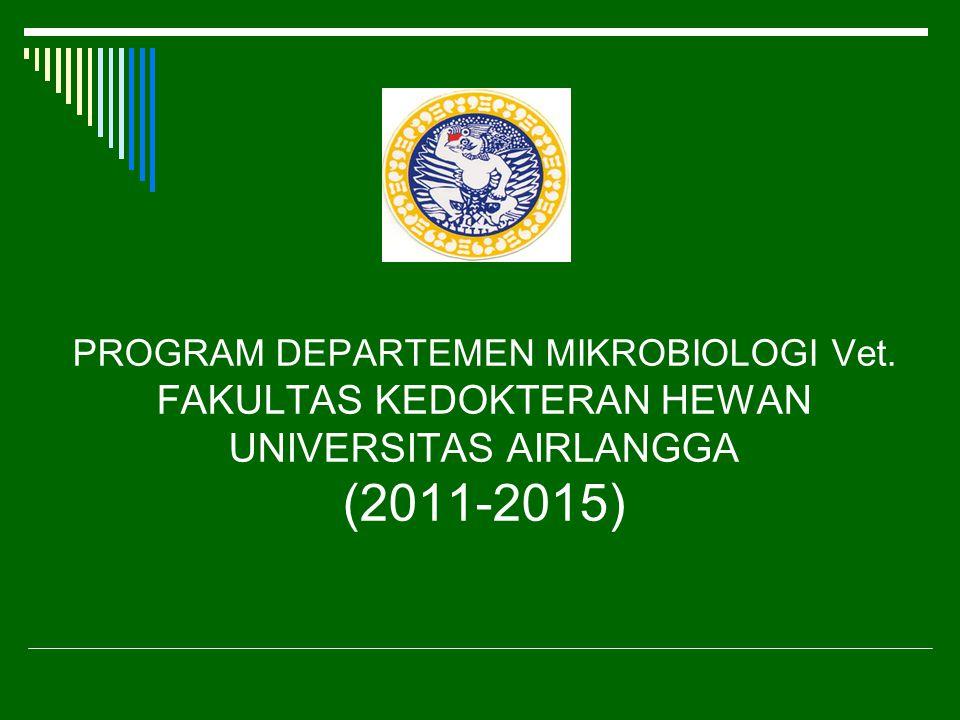 PROGRAM DEPARTEMEN MIKROBIOLOGI Vet. FAKULTAS KEDOKTERAN HEWAN UNIVERSITAS AIRLANGGA (2011-2015)