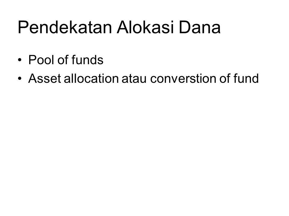 Pendekatan Alokasi Dana Pool of funds Asset allocation atau converstion of fund