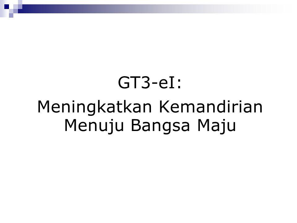 GT3-eI: Meningkatkan Kemandirian Menuju Bangsa Maju