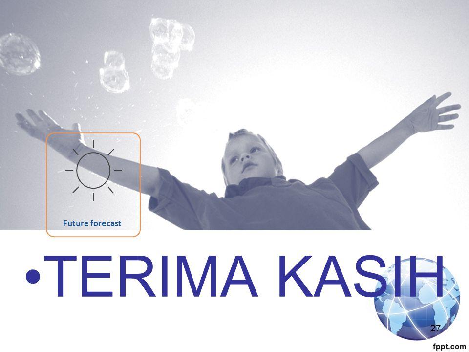 27 Future forecast TERIMA KASIH