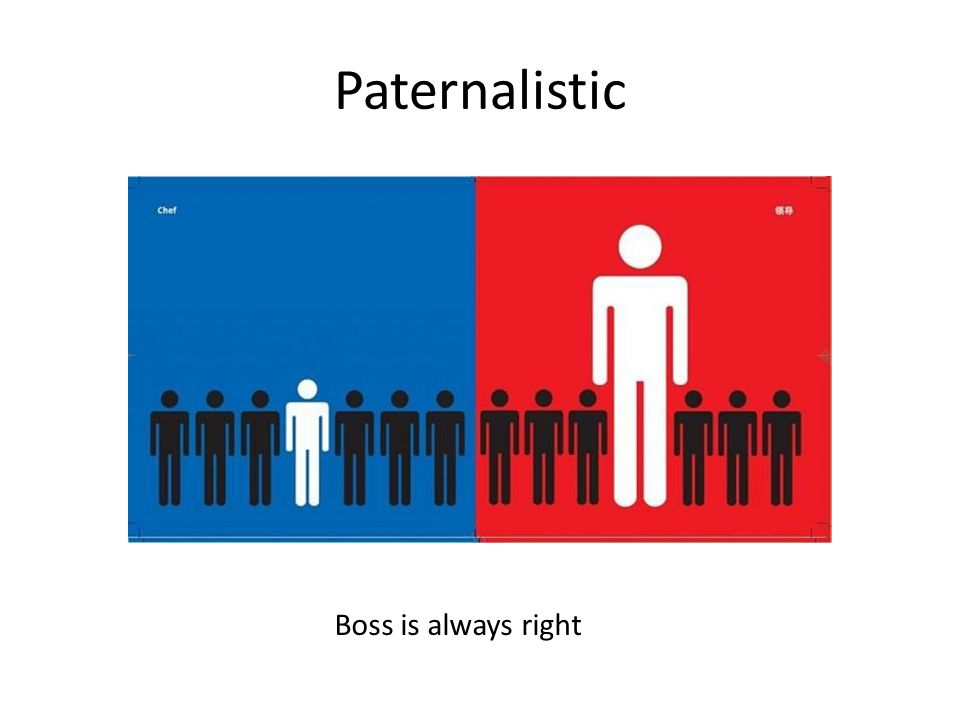 Paternalistic Boss is always right