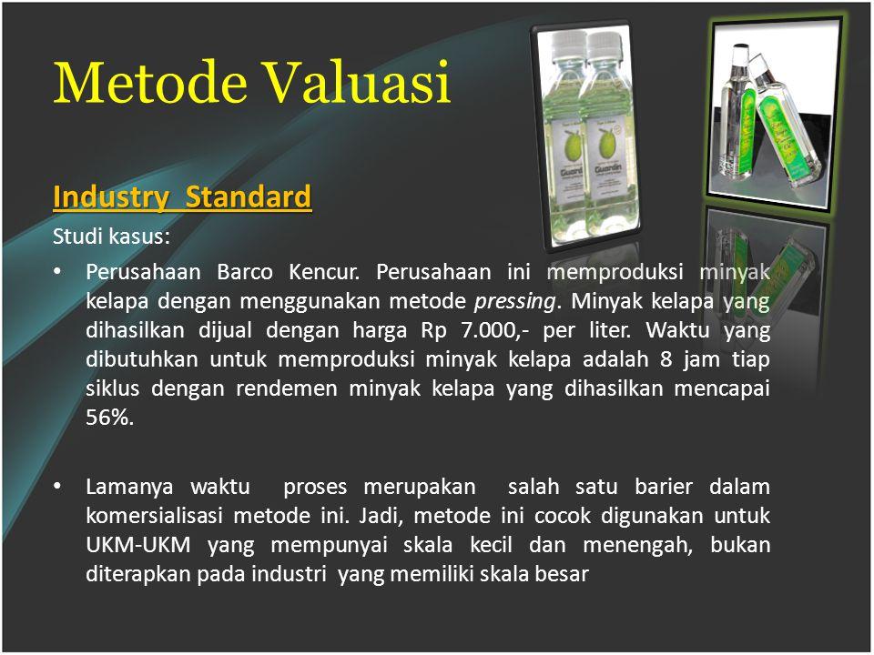 Metode Valuasi Industry Standard Studi kasus: Perusahaan Barco Kencur.