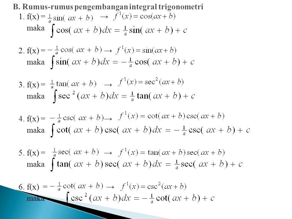 1.f(x) = → maka 2. f(x) = → maka 3. f(x) = → maka 4.
