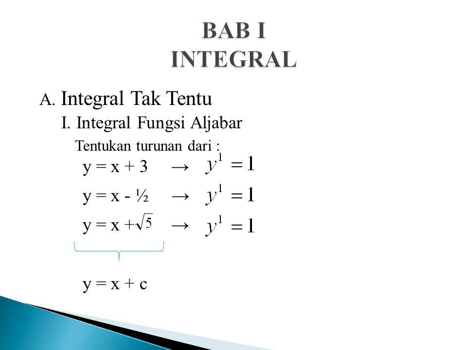 A.Integral Tak Tentu I.