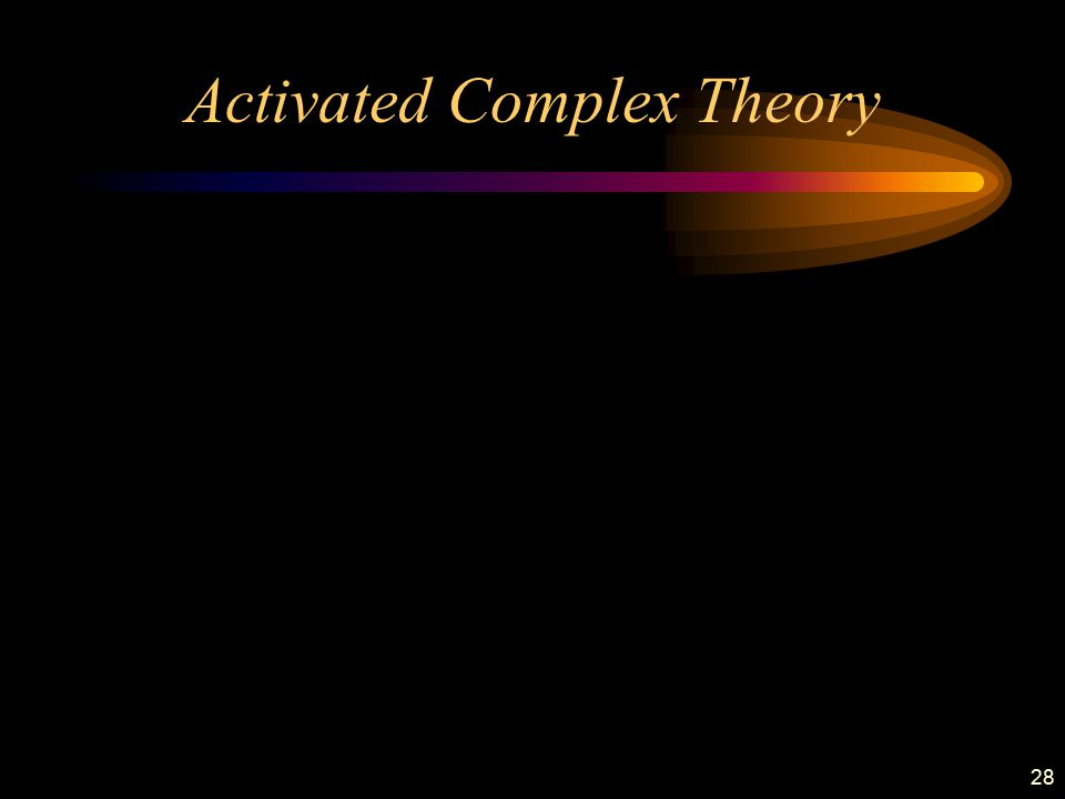28 Activated Complex Theory
