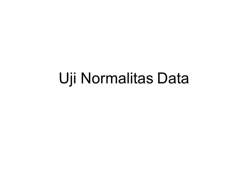 Uji Normalitas Data
