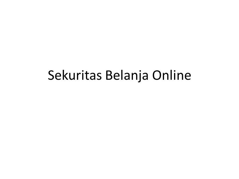 Sekuritas Belanja Online