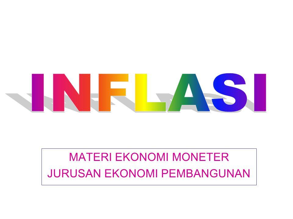 PENGERTIAN INFLASI Inflasi adalah proses kenaikan harga-harga umum barang-barang secara terus menerus.
