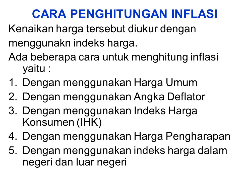 3.Inflasi Tinggi (Hyper Inflation) Hyper inflation merupakan inflasi yang paling parah akibatnya.