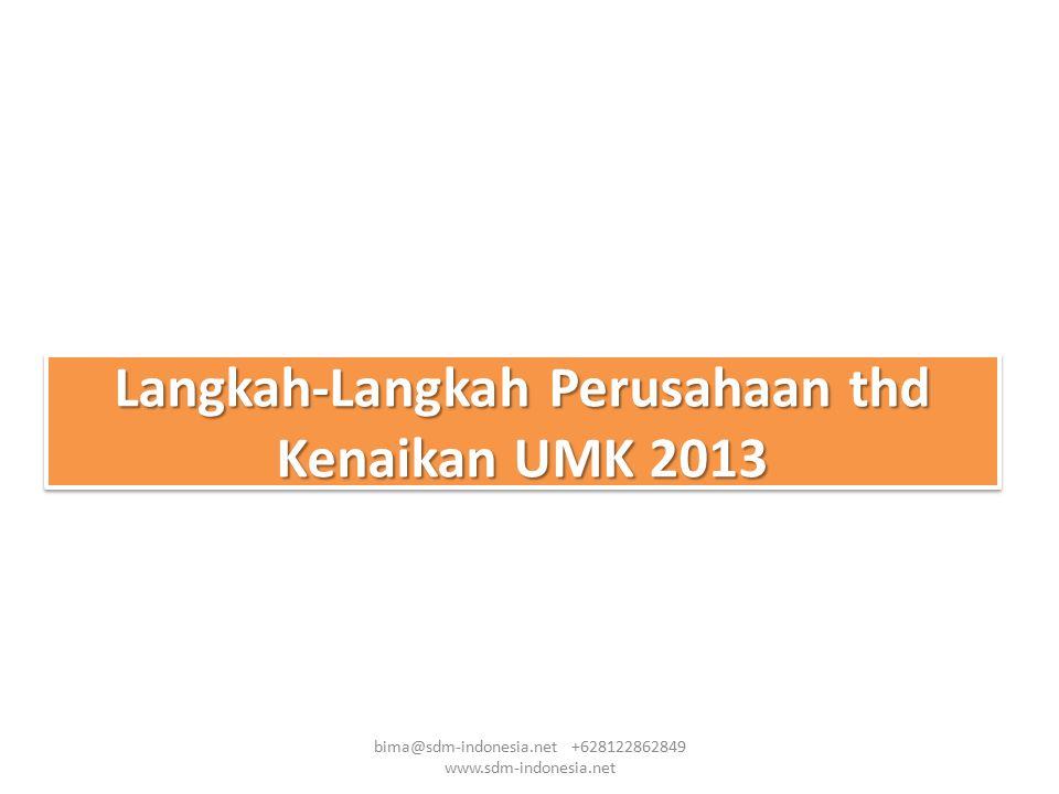 Langkah-Langkah Perusahaan thd Kenaikan UMK 2013