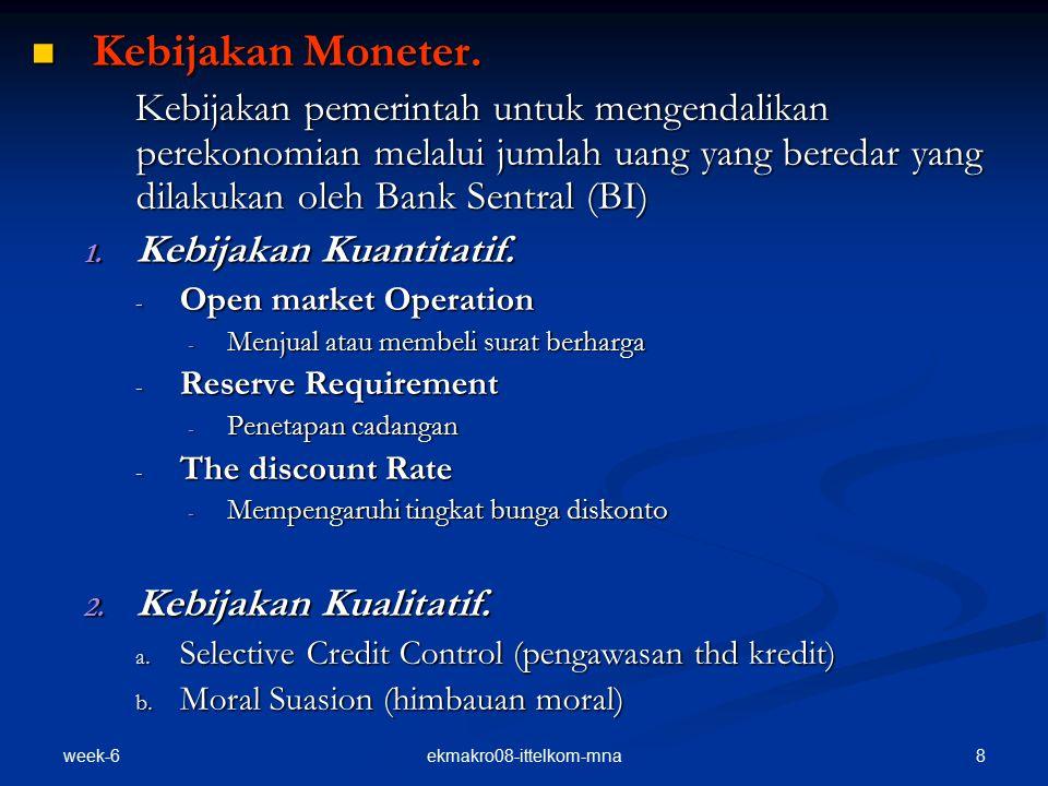 week-6 8ekmakro08-ittelkom-mna Kebijakan Moneter.Kebijakan Moneter.