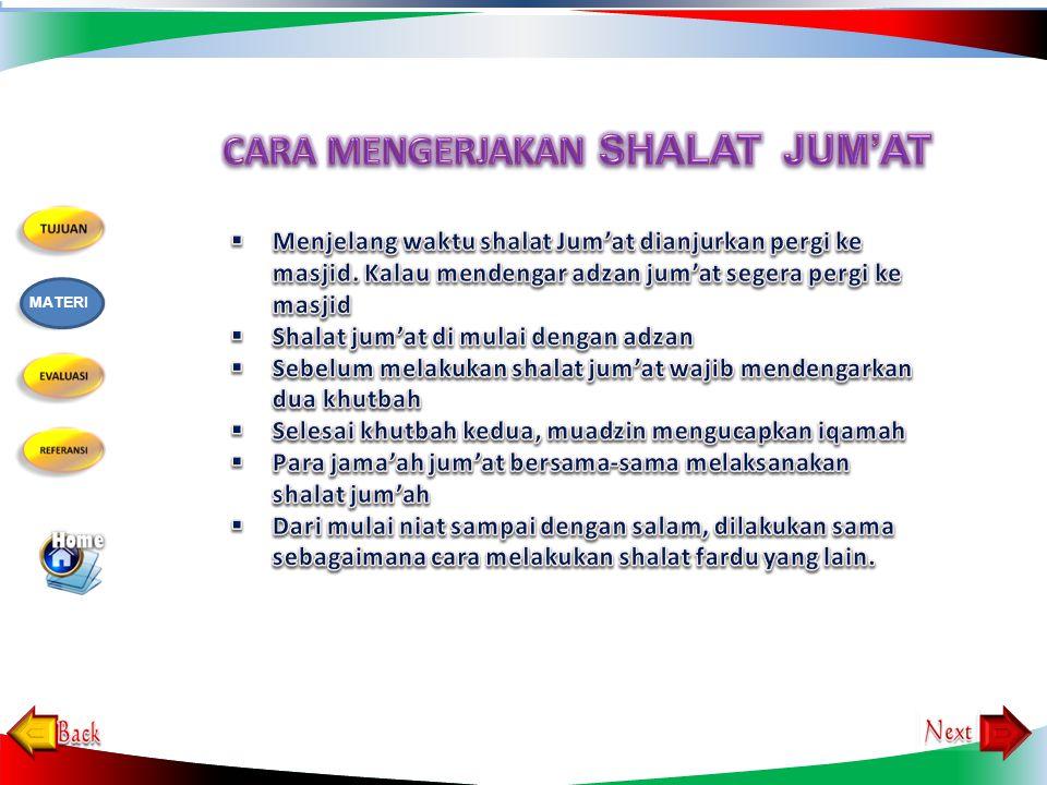  Islam tidak wajib bagi non Islam  Baligh (dewasa)  Berakal  Laki-laki  Sehat, tidak wajib bagi yang sedang sakit  Tetap di dalam negeri, tidak