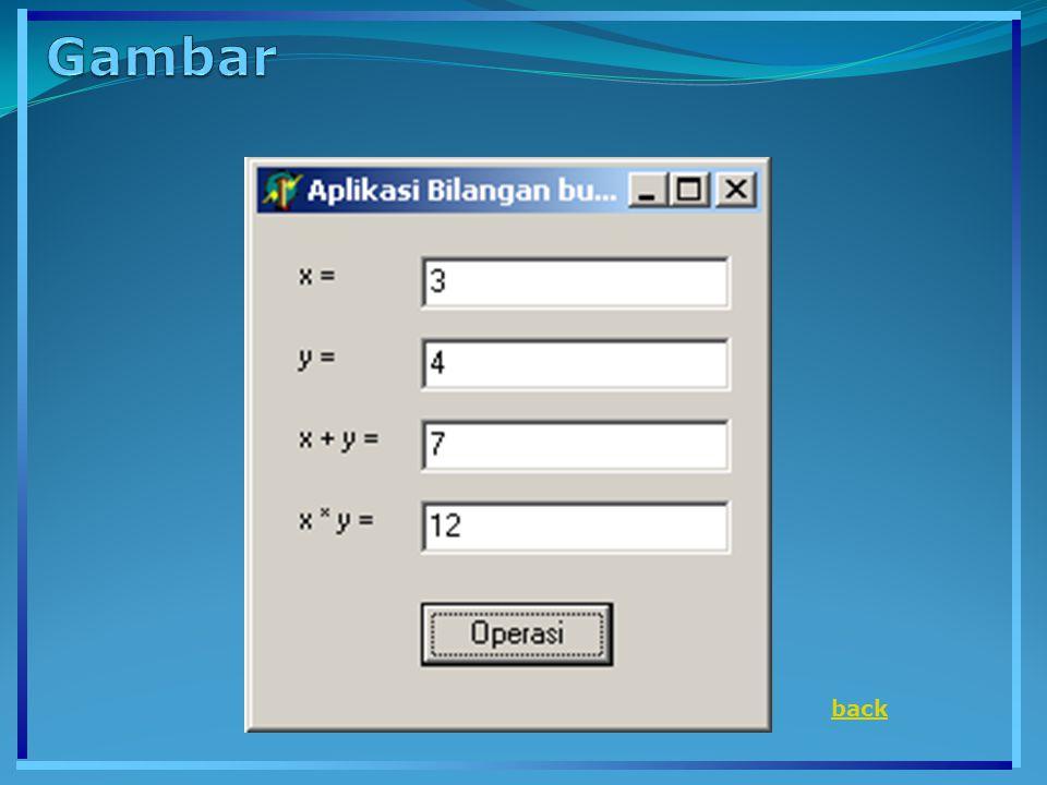 program tipe_karakter; {$APPTYPE CONSOLE} uses SysUtils; var a,b,c:char; begin a := A ; b := #65; C := chr(65); writeln( Karakter Pertama a adalah : ,a); writeln( Karakter Pertama b adalah : ,a); writeln( Karakter Pertama c adalah : ,a); a:= B ; writeln( Karakter yang baru a adalah : ,a); readln; end..