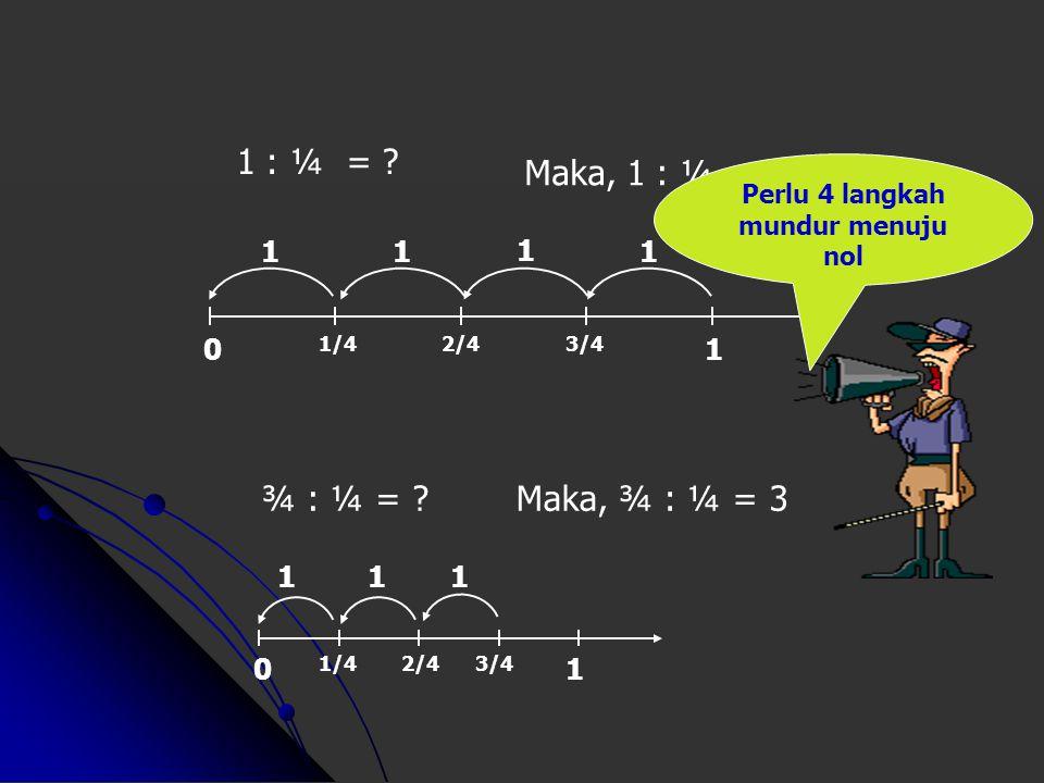 023415678 8 : 2 = ? 1111 Maka, 8 : 2 = 4 0 1/2 1 1 : ½ = ?Maka, 1 : ½ = 2 11 Dari angka 8 perlu 4 langkah mundur dua-dua menuju nol Dari angka 1 perlu
