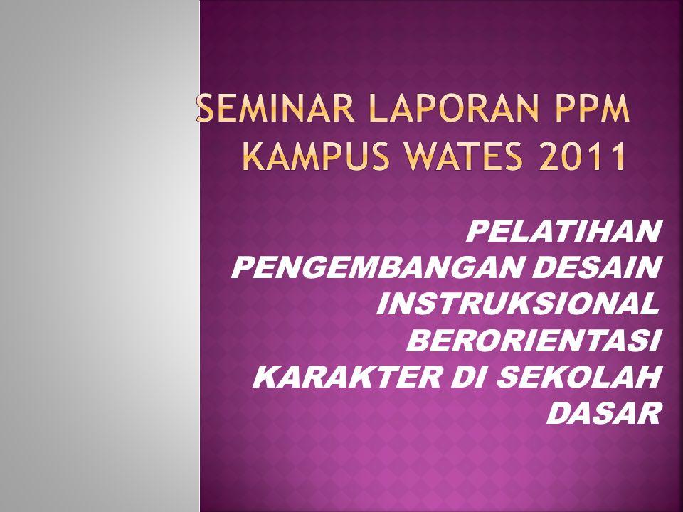  Kepala dinas kabupaten Kulon progo beserta stafnya sehingga dapat mambantu informasi pelatihan kepada peserta.